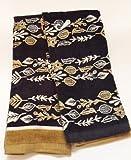 Women Owned Black/Gold Harvest Kitchen Towel Set of