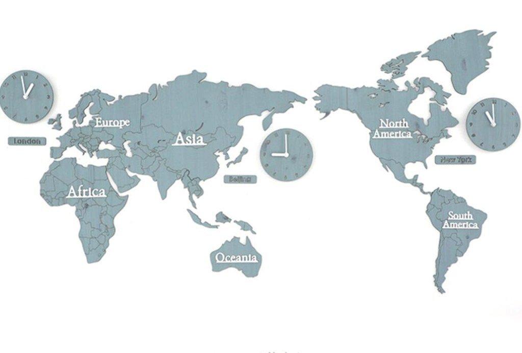 TXXM 世界地図ウォールクロッククリエイティブリビングルームモダンな装飾パーソナライズドホームテーブル (色 : M) B07F83PFL1 M M
