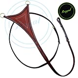 Royal Flat Running Martingale with Soft Leather./ Vegetable Tanned Leather./ Brass Buckles.