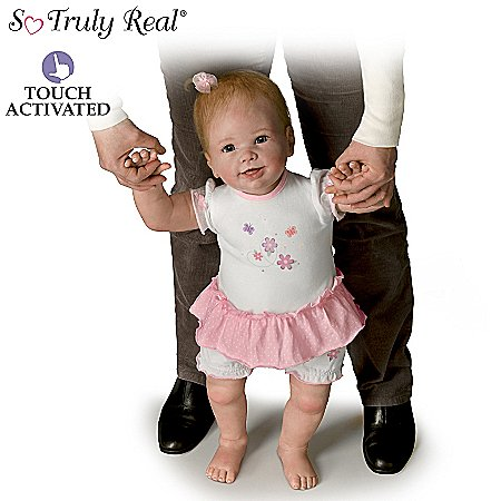 Isabella's First Steps Walks with Your Help! - So Truly Real® Lifelike, Interactive & Realistic Baby Doll 26-inches by The Ashton-Drake Galleries by The Ashton-Drake Galleries