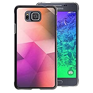 A-type Arte & diseño plástico duro Fundas Cover Cubre Hard Case Cover para Samsung ALPHA G850 (Poly Art Polygon Pattern Purple Color)