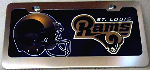 1, Football Sign of the, SAINT LOUIS RAMS , Metal Sign, Framed in a Chrome Metal Frame,,31A4.4+17B5.4+3001+