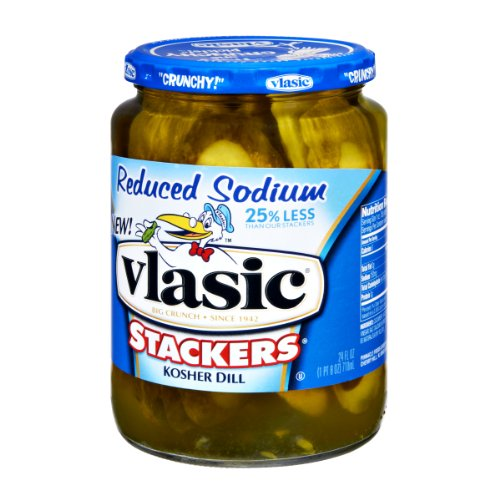 Vlasic Reduced Sodium Kosher Dill Stackers Pickles