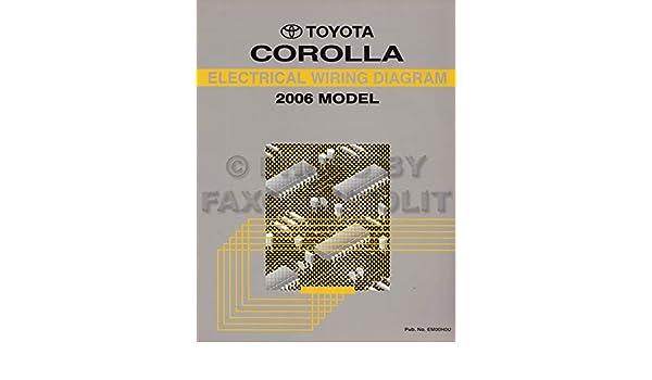 2006 toyota corolla wiring diagram manual original: toyota: amazon com:  books