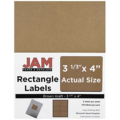 Vintage Look Label Craft - JAM Paper Shipping Address Labels - Large - 3 1/3