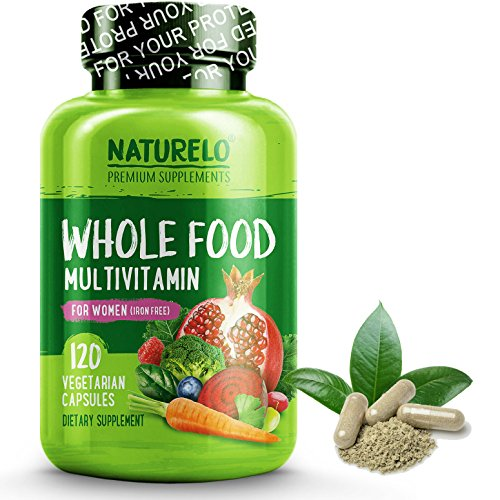 NATURELO Whole Food Multivitamin for Women - Iron Free - Nat