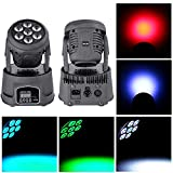 U`King RGBW (4 in 1) Moving Head Stage Lighting 7 LEDs for DJ Disco Club Party Dance Wedding by DMX Controller