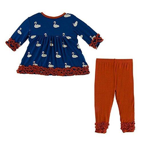 8d3f1107a7a3 Kickee Pants Little Girls Long Sleeve Babydoll Outfit Set
