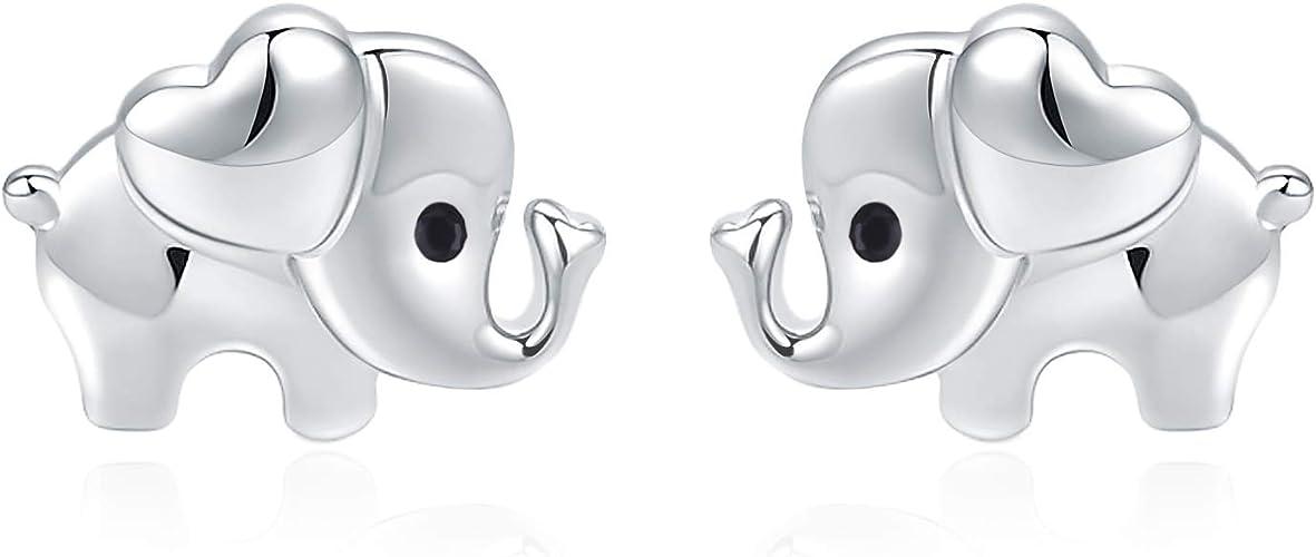 925 Sterling Silver Earrings Studs Elephant