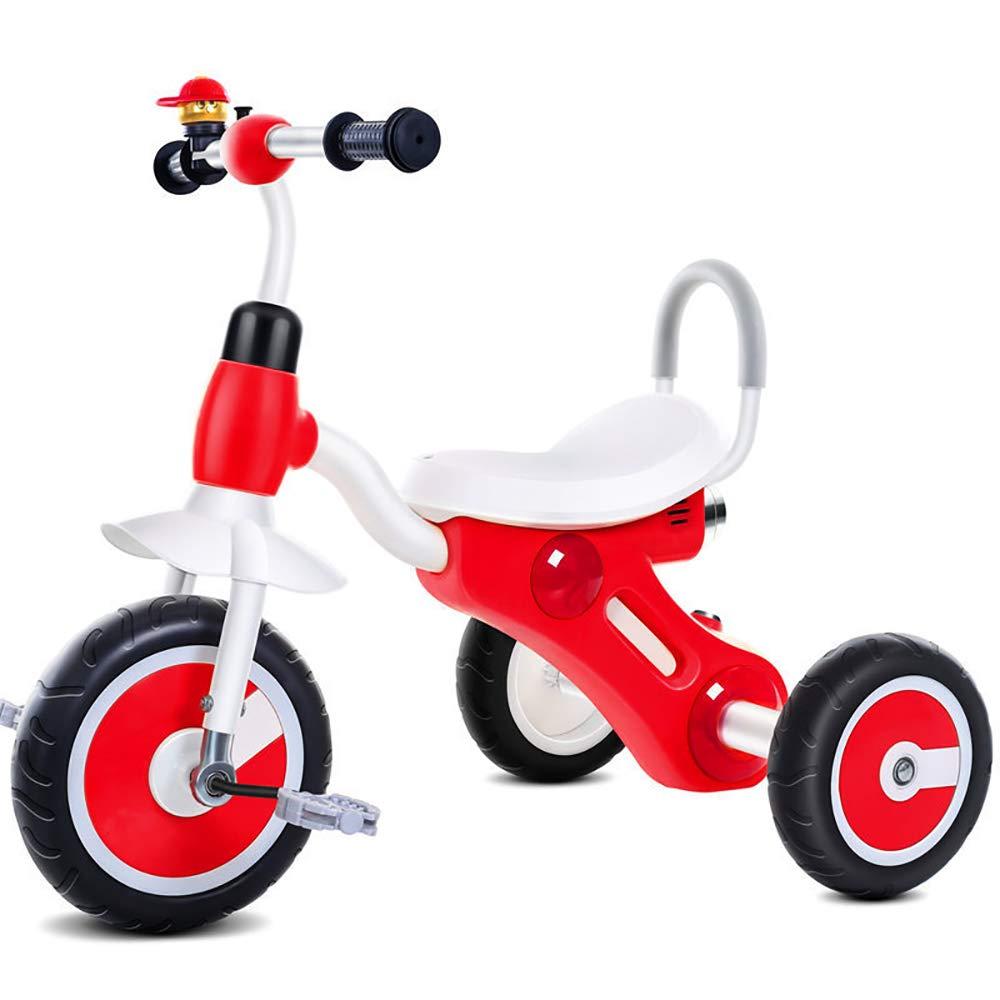tienda hace compras y ventas rojo JINHH Triciclo Triciclo Triciclo para Niños, Guardabarros Rueda de Seguridad Reposapiés Plegable-Asiento Regulable-Estructura Tubular Triciclo 1-5 años  Compra calidad 100% autentica