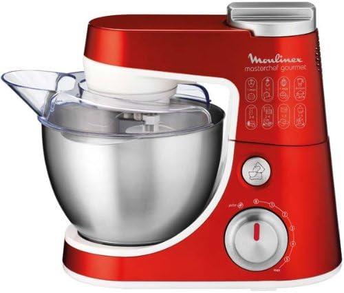 Moulinex Masterchef Gourmet Chef 900W 4L Rojo - Robot de cocina (4 L, Rojo, Giratorio, 1,5 L, Metal, De plástico): Amazon.es: Hogar