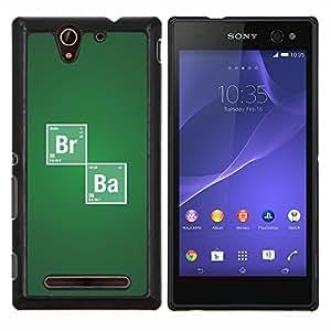 Br Ba Química sesión- Metal de aluminio y de plástico duro Caja del teléfono - Negro - Sony Xperia C3 D2533 / C3 Dual D2502