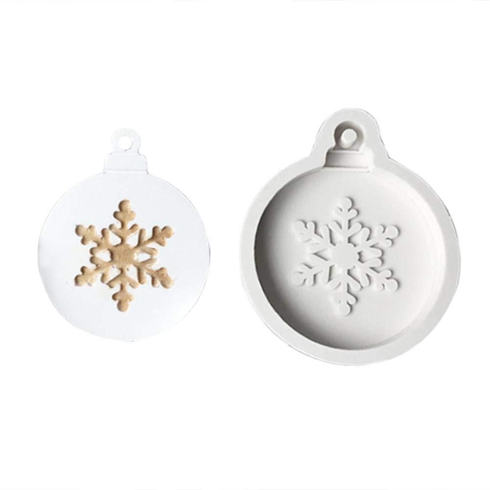 kingpo DIY Kuchen Silikonform Weihnachten Schneeflocke Weihnachtsbaum Fl/üssige Silikonform Kuchen Backen Werkzeuge Aroma Kerze Gips Lehmform Mit Loch