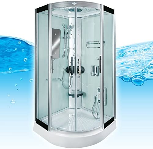 AcquaVapore DTP8046-0100 Dusche Duschtempel Komplett Duschkabine 80x80