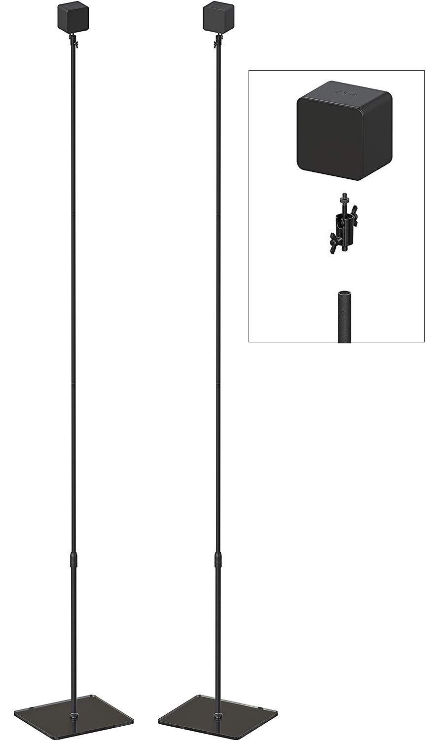 Skywin VR Glass Stand – HTC Vive Compatible Sensor Stand and Base Station for Vive and Rift Constellation Sensors (2…