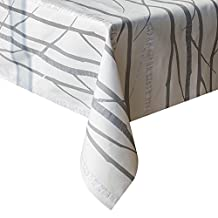 GagaKing Oil-proof Vinyl Tablecloth,Heavy Weight Rectangle PVC table cover Waterproof Stain-resistant/Mildew-proof Wipe Clean Table Protectors (54'' x 78.7'' (137cm x 200cm), Grey Tree)