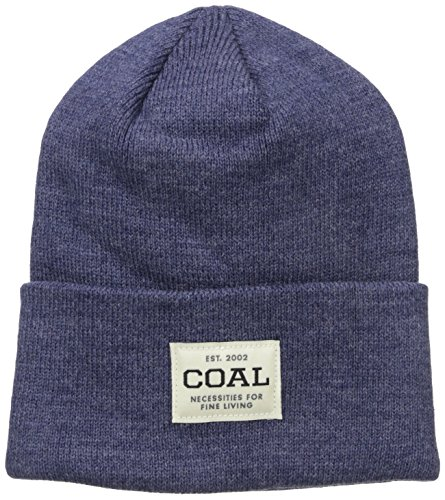 - Coal Men's The Uniform Fine Knit Workwear Cuffed Beanie Hat, Heather Navy, One Size