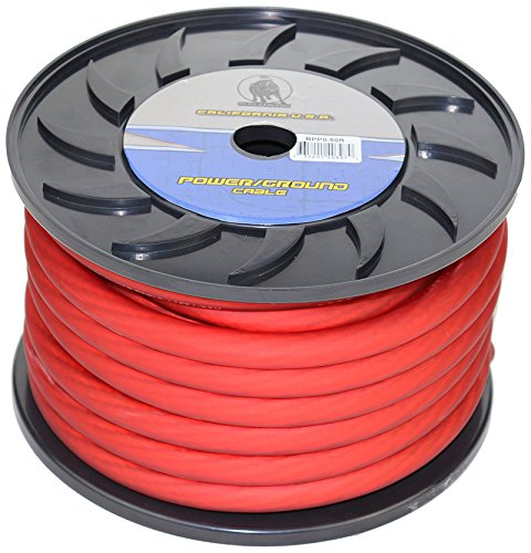 Bullz Audio (BPP0.50R) PRO Red 50' 1/0-Gauge Power Cable