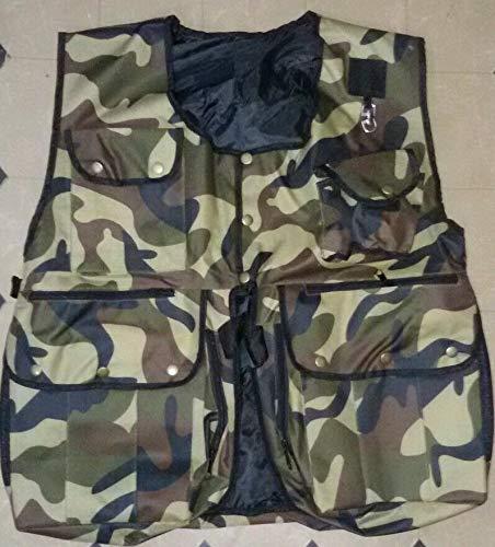 Large (L) New Falconry, Hunting & Hawking Waistcoat, Jungle Commando Full Vest