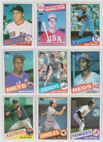 Mark Mcgwire Card - 1985 Topps Baseball Complete 792 Card Set with Kirby Puckett, Roger Clemens and Mark McGwire Rookie Cards Plus Other Stars Including Ryan, Brett, Mattingly, Ripken, Gooden, Sandberg, Boggs, Henderson, Gwynn and More!