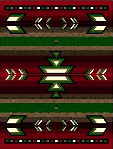 Red 2 X 8'' Runner Area Rug Southwestern Design Apache Native American Theme