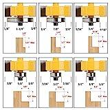 Yakamoz 1/4 Inch Shank Rabbet Router Bit with 6