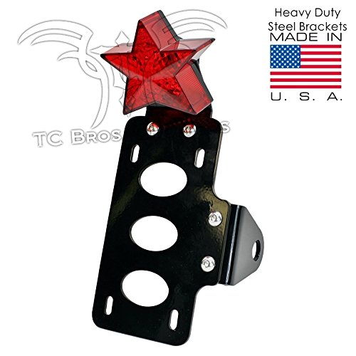TC Bros. Choppers 107-0003 Nautical Star Side Mount Tail Light/License Plate Bracket