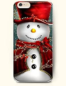 OOFIT New Apple iPhone 6 ( 4.7 Inches) Hard Case Cover - Snowman with Yellow Nose