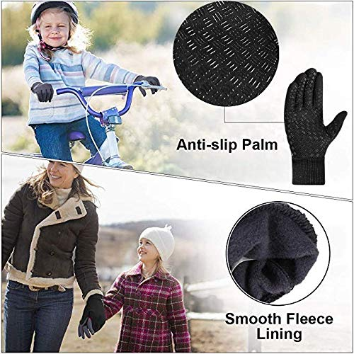 Kids Winter Gloves Warm for Cold Weather Sports Outdoors School Touchscreen 3M Grip Gloves Junior Boys Girls