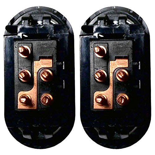 Pair of Lock Switches Replacement with 5 Prongs for Chevrolet GMC SUV Pickup Truck 22086338