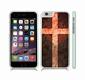 iStar Cases? iPhone 6 Plus Case with Denmark Flag Antique Grunge Look Design , Snap-on Cover, Hard Carrying Case (White)