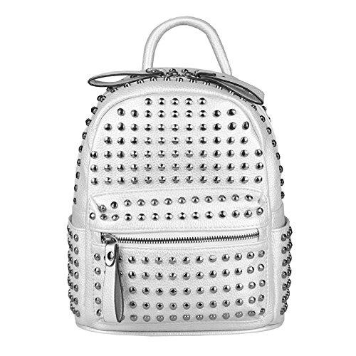 JJ Collection - Bolso mochila para mujer Rosa rosa 26x28x10 cm (BxHxT) Silber 23x25x12 Cm