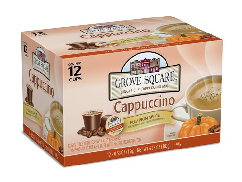 Grove Square Cappuccino, Pumpkin Spice, 12 Single Serve Cups -