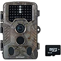 Safevant Wildlife Camera, 12MP 1080P Trail Camera with Night Vision and 16G TF Card