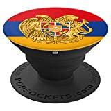 Armenia Armenian Flag %2D PopSockets Gri