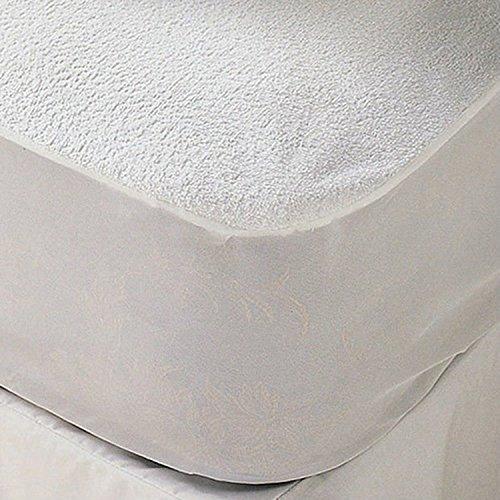 Mattress Towelling Protector (sinnlein Terry Towelling Waterproof Mattress Protector, 11 Sizes Available, 100% Cotton, Machine Washable at 95°C (Super King Size 180 X 200 cm) Super cm)