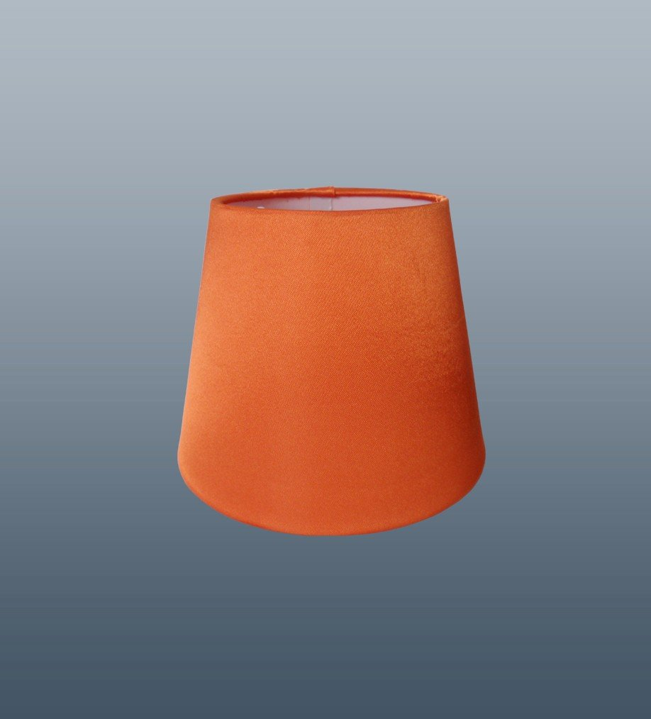 Coco 6 orange clip on faux silk candle lampshade amazon coco 6 orange clip on faux silk candle lampshade amazon lighting mozeypictures Images