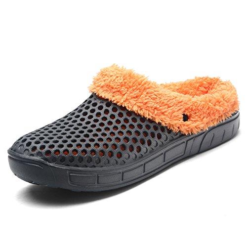 JACKSHIBO Herren Sommer Atmungsaktiv Sandale Hausschuhe Damen Outdoor Slippers Wasserschuhe, , Grey