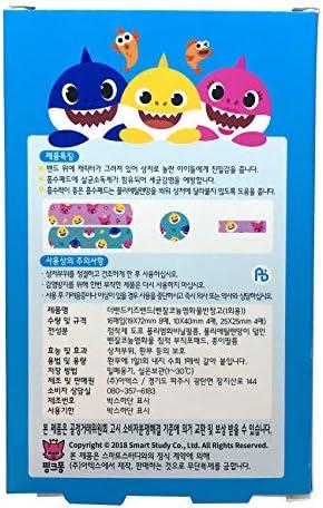 51HuA%2BSN2jL. AC - Pinkfong Baby Shark Kids Band-Aid 16 Ea 3 Pack