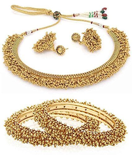 Buy Jewels Gold Imitation Traditional Funky Simple Designer