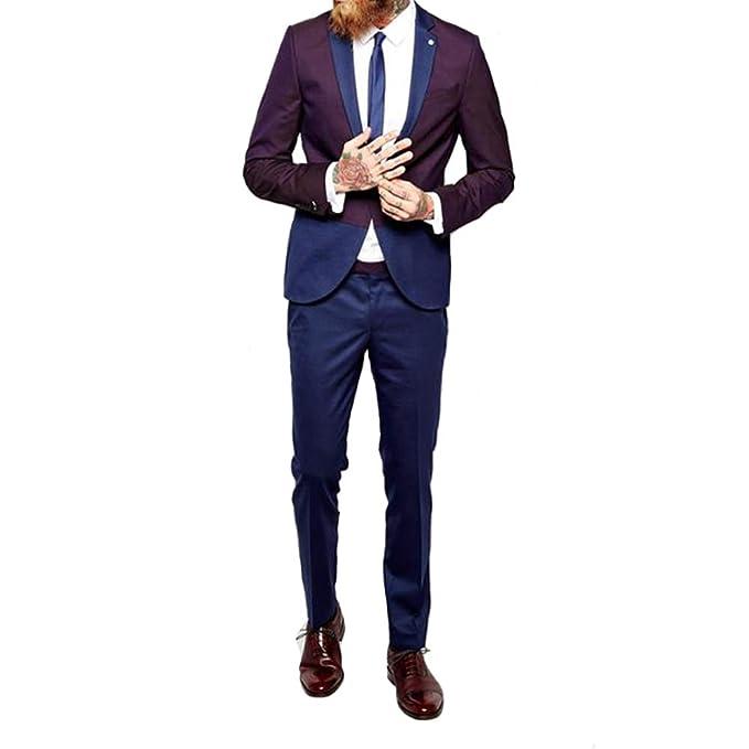 Amazon.com: Michealboy - Traje de novio para baile, 2 piezas ...