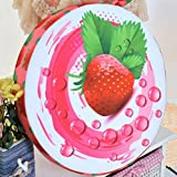 Comfortable Plush Toys Pet Cushion Creative Cute Watermelon Fruit Creative Office Sofa Cushion Dog Nest (Strawberry)