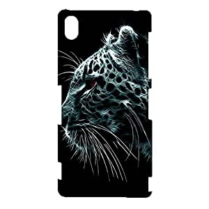 Sony Xperia Z3 Case,Fashion Beauty Leopard Pattern Custom Delicate Printed 3D Flexible Hard Phone Case for Sony Xperia Z3