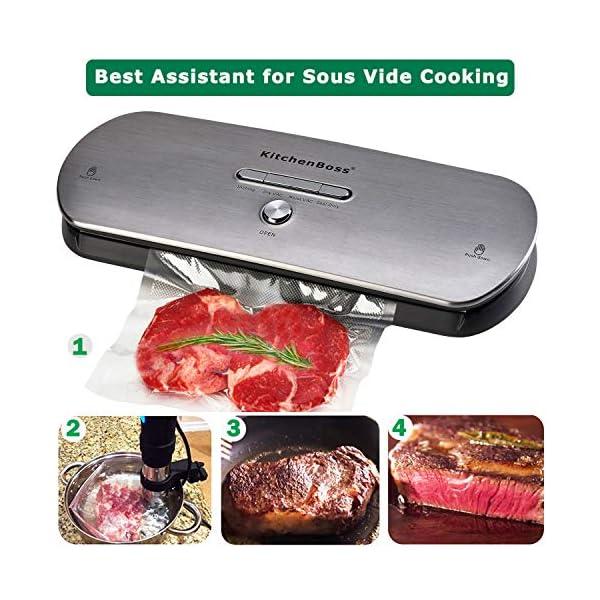 Macchina Sottovuoto per Alimenti KitchenBoss Sottovuoto Macchina Vacuum Sealer Professionale Automatica Portatile con… 3