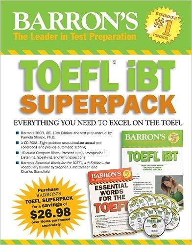Pdf book toefl edition barrons 14th ibt