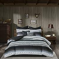 Woolrich 8-Piece Rooftop Reversible Comforter Set in Grey (King, Queen, Full or Twin)