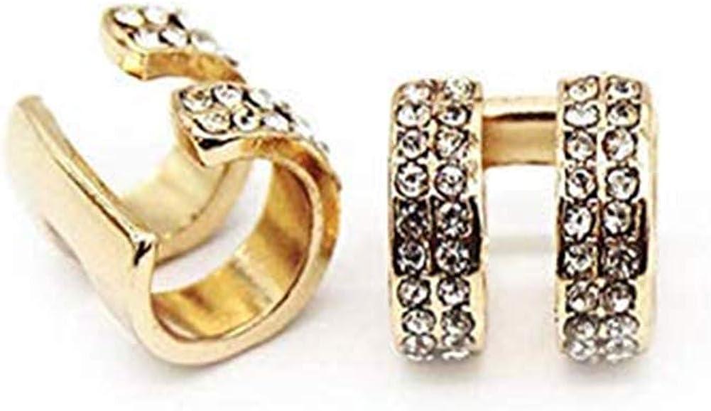 Vercret Gold Earrings Cuff for Women - CZ Earrings for Girls, Ear Cuff Gifts for Friend,Sister, Daily Wearing