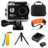 iGANK 4K Action Camera,Full HD Wifi Waterproof Sports Camera with SONY Sensor,Charger and 2 Pcs Rechargeable Batteries Carrying Case Include Water Sports Accessories Action Cameras iGANK