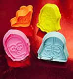 Anyana 4pcs set Star wars cartoon fondant plunger Cookie Cutter biscuit stamp stamper impression decorating Sugarcraft Cake Decoration pastry pie crust mold