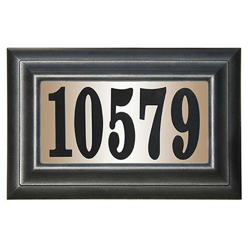 Edgewood Classic Rectangular Plastic Lighted Address Plaque (Rectangular Sign)